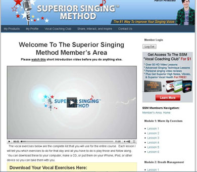 Superior Singing Method Members Area 2
