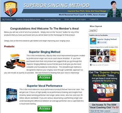 Superior Singing Method Members Area