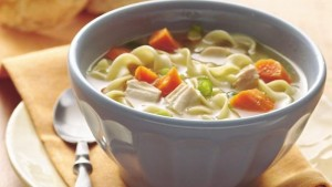 chicken noodle soup for dealing with phlem