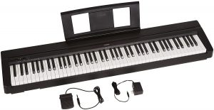 Yamaha P71 88-Key Weighted Action Digital Piano as one of the best electronic keyboard