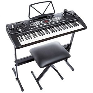 Alesis Melody 61 Beginner Bundle | 61-Key Portable Keyboard as one of the best electronic keyboard